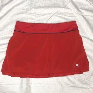 Lululemon Athletica Red Skort Size 4